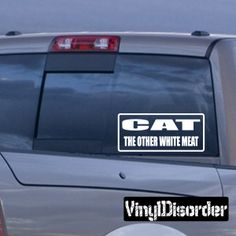 Cat the other white meat Bumper Sticker Wall Decal - Vinyl Decal - Car Decal - DC784