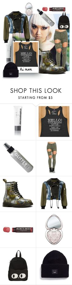 """""""hi mom"""" by caroline-buster-brown ❤ liked on Polyvore featuring Dermalogica, Dsquared2, Burt's Bees, Too Faced Cosmetics, Acne Studios and toocool"""