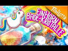 Einhorn Bade-Kristalle DIY | Einhorn DIY | Einhorn basteln | Kinderkanal - Tobilottarium 39 - YouTube
