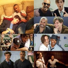 Shemar Moore and Matthew Gray Gubler collage.
