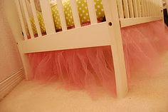 Tutu Bed Skirt...how cute! that would be cute on a little girls bed too.