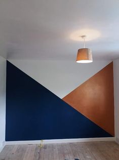 Paint is Dulux Sapphire Salute and Wilko Statement Copper Pipe. Shall leave walls white. Copper And Grey Living Room, Copper Room, Navy Living Rooms, Living Room Decor, Bedroom Decor, Copper Wall Decor, Boys Bedroom Paint, Copper Paint, Green Painted Walls