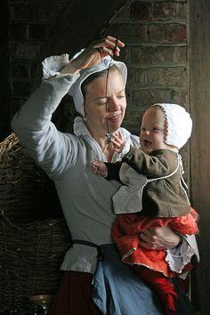 Mother and Baby 2 - Mother and Baby 2 Mother and Baby 2 Historical Costume, Historical Clothing, 17th Century Clothing, Elizabethan Era, Larp, Late Middle Ages, Renaissance Era, Fantasy Photography, Medieval Clothing
