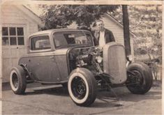 Club Ohio Admirer of old trucks, Edsels, custom mercs, Impala's and other hot rods. Steve Mcqueen Le Mans, Old Hot Rods, Car Man Cave, Traditional Hot Rod, Classic Hot Rod, 1932 Ford, Drag Cars, Street Rods, Old Trucks
