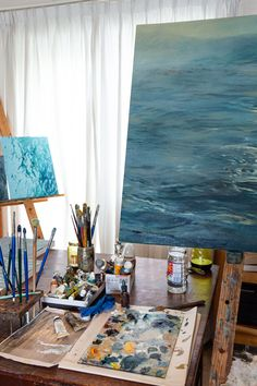Kommetjie-based artist Laurel Holmes prepares for her solo exhibition 'Water Mark' Still Frame, Moving Water, Patterns In Nature, Table Decorations, Artist, Artists, Dinner Table Decorations