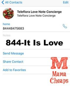 Teleflora Love Note
