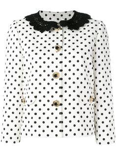 ¡Consigue este tipo de americana de Dolce & Gabbana ahora! Haz clic para ver los detalles. Envíos gratis a toda España. Dolce & Gabbana - Polka Dot Brocade Jacket - Women - Silk/Cotton/Spandex/Elastane/Viscose - 42: White stretch cotton blend polka dot brocade jacket from Dolce & Gabbana featuring a round neck, long sleeves, decorative buttons, side pockets and a black crochet collar. Size: 42. Gender: Female. Material: Silk/Cotton/Spandex/Elastane/Viscose. (americana, americana, blazer…