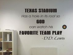 Texas Stadium Dallas Cowboys funny football famous quote Wall Art Vinyl Decal Sticker w/ FREE Sakari Graphics Decal by Sakari Graphics, http://www.amazon.com/dp/B00411KYZ0/ref=cm_sw_r_pi_dp_Bw6qqb0MHJFCS