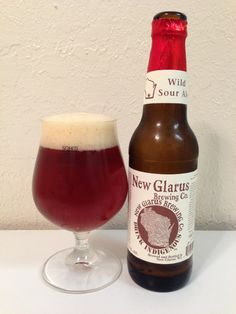 New Glarus Thumbprint Series Wild Sour Ale. Amazing American interpretation of a Belgian sour brown ale.