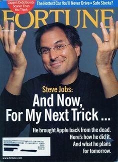 Fortune, November Steve Jobs: And Now For My Next Trick… Job Quotes, Lesson Quotes, Wisdom Quotes, Life Quotes, Steve Jobs Apple, Business Magnate, Steve Wozniak, Fortune Magazine, American Entrepreneurs