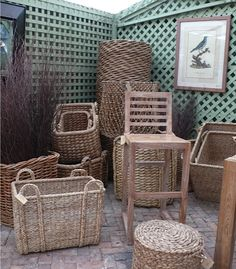 Nothing quite says beachy like our collection of #woven #baskets at #Southampton #Mecox #interiordesign #mecoxgardens #furniture #shopping #design #decor #home #designidea #room #vintage #antiques #garden