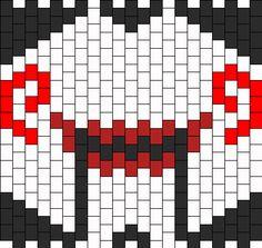 Kandi Mask Patterns, Perler Patterns, Peyote Patterns, Bead Patterns, Bracelet Patterns, Kandi Cuff, Kandi Bracelets, Anime Pixel Art, Rave Gear