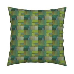 Catalan Throw Pillow featuring shadesofgreen by jack@spoonflower | Roostery Home Decor