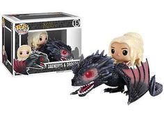 Funko POP! Game Of Thrones: Daenerys & Drogon - Rides TV Vinyl Figure 15 NEW