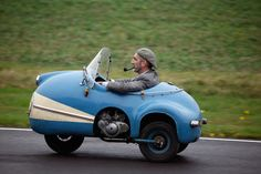 A small three wheel micro car, 1958 Brütsch Mopetta, Goodwood, West Sussex. UK / RM Licence available