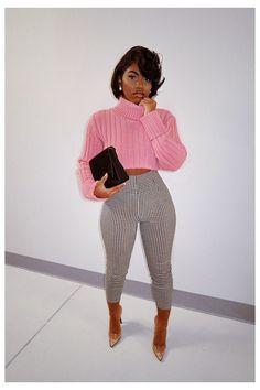Black Women Fashion, Cute Fashion, Look Fashion, Autumn Fashion, Fashion Outfits, Black Women Style, Swag Fashion, Fashion Pants, Cute Casual Outfits