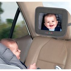 Munchkin Adjustable Back Seat Mirror - 100 Baby Products We Couldn't Live Without!