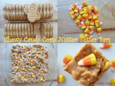 Chewy Candy Corn Nutter Butter Bars