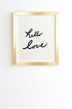 Lisa Argyropoulos Hello Love On White Framed Wall Art | DENY Designs Home Accessories