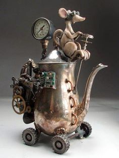 steampunk Teapot by Mitchell Grafton