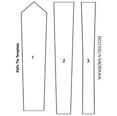 Kids Necktie Template Click The Image And Print File To Have A Tie
