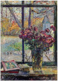 ❀ Blooming Brushwork ❀ - garden and still life flower paintings - David Burliuk (1882-1967)  Flowers