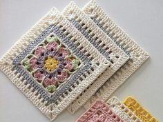 Arielle's Square Baby Blanket crochet project by Deborah O Crochet Square Blanket, Granny Square Crochet Pattern, Crochet Blocks, Crochet Stitches Patterns, Crochet Squares, Crochet Motif, Crochet Designs, Crochet Doilies, Free Crochet