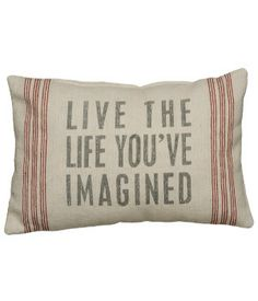 """Rustic """"Live The Life"""" Accent Pillow"""
