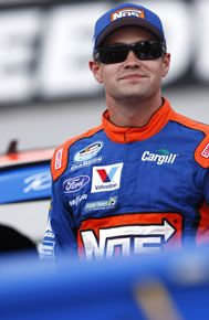 in his NOS firesuit getting ready to race at Bristol. He's a cutie! Ricky Stenhouse Jr, Ford Fusion, Car And Driver, Nascar, Mississippi, Bristol, Race Cars, Motorcycle Jacket, Sleep