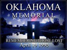 Oklahoma City Memorial - Remembering those Lost - April 19, 1995