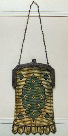 1920s Deco Enamel on Mesh Whiting Davis Bag by MissMelody on Etsy, $95.00