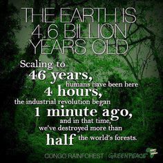 When will people learn that as the earth goes, so does humanity...  #naturalist #conservation #environment