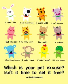 Pet excuses, what's