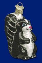 "Old World Christmas Stinker skunk ornament 3"""