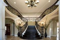 I would not mind walking these stairs everyday. Love the black stairs