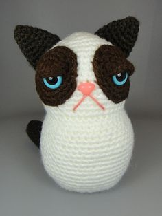 Grumpy Kitty  PDF amigurumi crochet pattern by edafedd on Etsy, $4.00