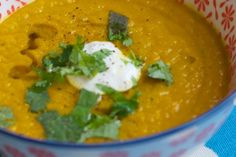 A healthy carrot soup recipe - lower in salt and sugar than shop-bought soups. Carrot And Coriander Soup, Carrot Soup, Baby Food Recipes, Soup Recipes, Cooking Recipes, Recipies, Dinner Recipes, Family Meals, Kids Meals