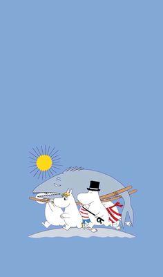 Moomin Wallpaper, Kawaii Wallpaper, Cartoon Wallpaper, Iphone Wallpaper, Moomin Valley, Kawaii Illustration, Tove Jansson, Image Paper, Cartoon Sketches