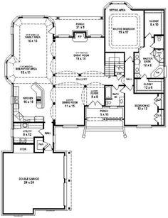 #654737 - Great 3 Bedroom 3 Bath House with open floor plan : House Plans, Floor Plans, Home Plans, Plan It at HousePlanIt.com