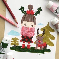 Cold cold  Stay warm☕️ Happy gouache time ✨ 츄워요 츄워❄️ 따숩게 하구 다니셔요 어제 하루 과슈랑 뒹굴뒹굴-ㅋ 그림을 그릴수록 부족함을 느끼는 요즘입니다. 더 열심히 그리자!!!!! . . . . . . #illustration #kidlitart #painting #gouache #childrensillustration #artwork #drawing #sketchbook #illustagram #staywarm #acrylagouache #jjlynndesign #winter #artist #artistsoninstagram #cute #instaart #art #kidsillustration #일러스트 #과슈 #페인팅 #손그림 #handdrawn #제이제이린 #드로잉 #dailydrawing #데일리드로잉 #스케치북