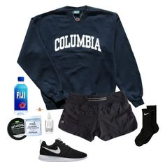 """""""Weekend"""" by halledaniella ❤ liked on Polyvore featuring Columbia, lululemon, Mod Bath and Body, Herbivore, Kendra Scott and NIKE"""