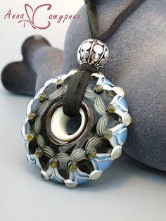 "Pendants handmade. Fair Masters - handmade lampvork based on ""Wheel of Fortune."" Handmade. ~Anna Saturnia"