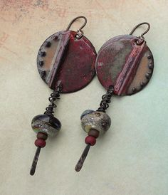 Urban Decay Artisan Earrings//Rustic//Industrial//Must Have//Contents Jewelry (44.00 USD) by ContentsJewelry - handmade - jewelry - jewellery - artisan --- inviciti charms