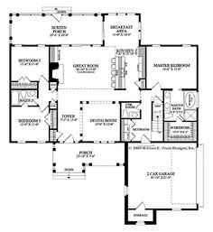 Home Plans HOMEPW26822 - 1,990 Square Feet, 3 Bedroom 2 Bathroom Cottage Home with 2 Garage Bays