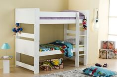 Birlea Cube White Painted Pine Bunk Bed - £348