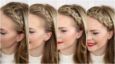 tresse couronne sur les coté, une coiffure facile a faire, Ce tuto tresse couronne est fait pour vous ! Agathe ne sait plus comment coiffer ses cheveux mi long. Elle rêve d'une coupe de cheveux tendance, simple et rapide à faire. Etape 1 : Séparez la chevelure en deux en dessinant une raie au ... voir la video