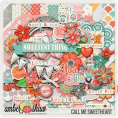Call Me Sweetheart Digital Scrapbook Kit