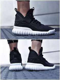 adidas Tubular X Primeknit Core Black/ Dark Grey/ Charcoal Solid