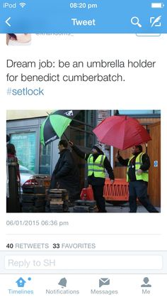 Sadly, I'm about 8 inches too short! Dream job--- umbrella holder for Martin Freeman instead!