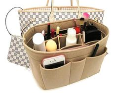 Felt Insert Fabric Purse Organizer Bag, Bag Insert In Bag with Zipper Inner Pocket Fits Neverfull Speedy 8010 Beige L. Gucci Handbags, Luxury Handbags, Louis Vuitton Handbags, Purses And Handbags, Designer Handbags, Fashion Handbags, Cheap Handbags, Leather Handbags, Diaper Bag Organization